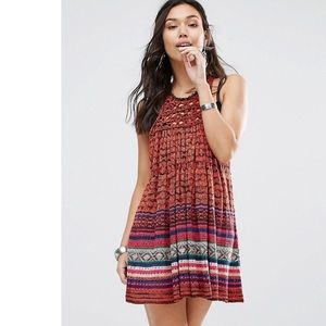Free People Rate Hearts Red Knit Dress